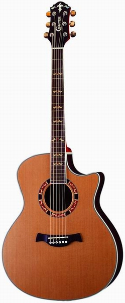 Crafter GAE 18/N electro-acoustic guitar, Solid Cedar top, Rosewood B & S, CR Tuner, Wooden Inlay, LR-T 4T (LCD Tuner) PreAmp & L.R.Baggs Pick-up, T Brace