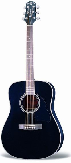 Crafter MD 58/BK Acoustic guitar, Dreadnought body, Spruce top, Black colour