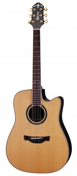 Crafter DLX-3000CD/RS Acoustic guitar with Hard Case, solid CD top, solid Rosewood B & S, Gotoh Gold machine heads, wood binding