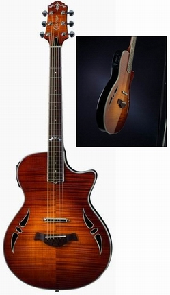 Crafter SA-TMVS Slim Arch body, Set Neck, LR-F Hybrid PreAmp (Kent Armstrong Lipstick Pick-up & L.R.Baggs P/U)