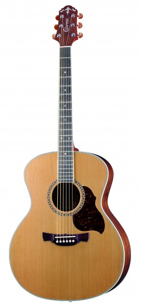 Crafter GA 7/N Acoustic guitar, solid Cedar top, Natural color, Bean Chrome M/H