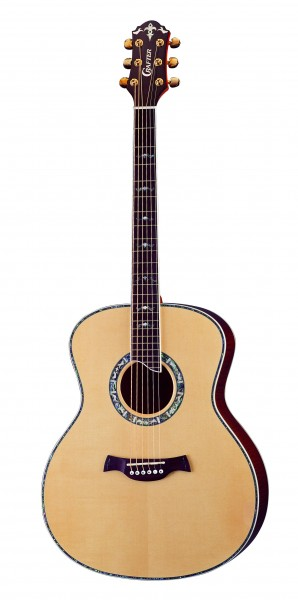 Crafter GA 30/N electro-acoustic guitar, Solid ES top, Brown Tiger Maple B & S, Gold Tuner, Abalone, T Brace