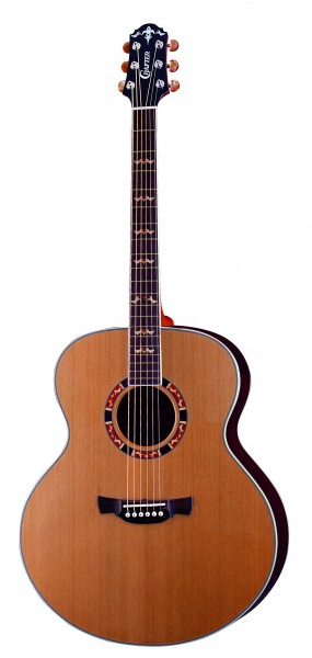 Crafter J 18/N Acoustic guitar, Solid Cedar, Rosewood B & S, CR Tuner, Wooden Inlay, T Brace