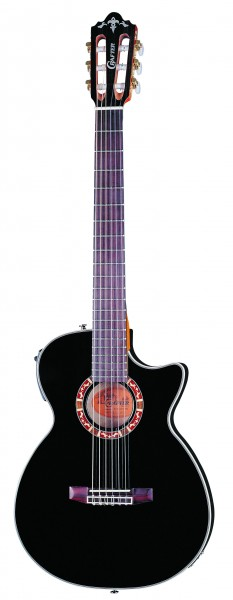 Crafter CTS 155C/BK Solid Sitka spruce, CTS brace, LR-F Plus PreAmp & L.R.Baggs Pick-up, Wooden mosaic soundhole, Classic
