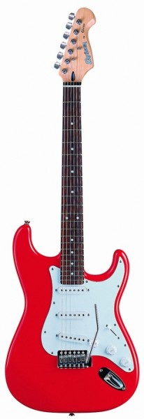 Cruzer ST-120/RD Electric guitar, Color Red, Solid Basswood body, Standard Diecast CR M/H, Pick-Ups : S+S+S