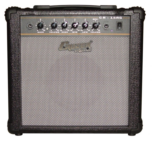 Cruzer CR-15RG Electric Guitar Amplifier with Reverb (BLK Plastic Corner)