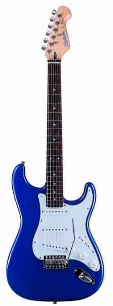 Cruzer ST-120/BLU Electric guitar, Color Blue, Solid Basswood body, Standard Diecast CR M/H, Pick-Ups : S+S+S