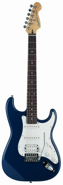 Cruzer ST-200/BLU Electric guitar, Color Blue, Solid Basswood body, Crafter Diecast CR M/H, Pick-Ups : S+S+H