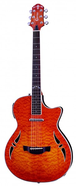 Crafter SA-QMOS Slim Arch body, Set Neck, LR-F Hybrid PreAmp (Kent Armstrong Lipstick Pick-up & L.R.Baggs P/U)