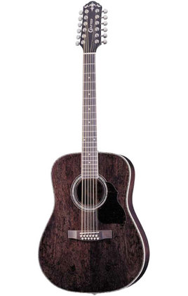 Crafter MD 70-12/TBK (W/SB-DG) 12 String Acoustic guitar with Crafter SB-DG Soft Bag, Dreadnought, Transparent Black color, Bubinga top, Pearl logo