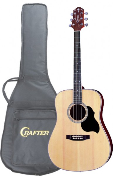 Crafter MD-40/N (W/SB-DG) Acoustic Guitar with Crafter SB-DG Soft Bag, Dreadnought, Spruce top