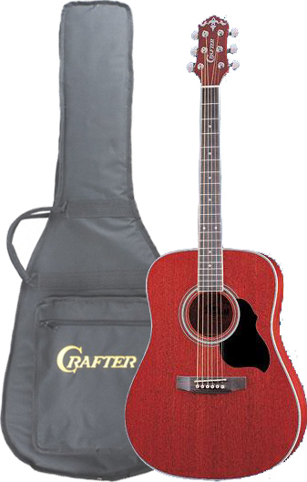 Crafter MD-42/TR (W/SB-DG) Acoustic guitar with Crafter SB-DG Soft Bag, Dreadnought, Mahogany top