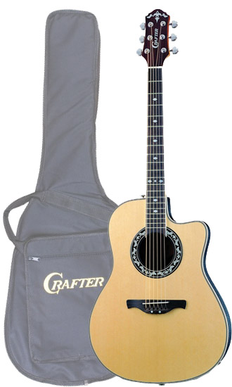 Crafter FSG 250EQ/N (SB-EG) Electro-Acoustic Guitar with Crafter SB-EG Soft Bag, FA-back, Spruce top, TP-F EQ PreAmp & Cable Pick-up