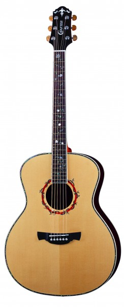 Crafter GA 45/N (W/HC-DG) Acoustic guitar, Solid ES top, Rosewood Back&Sides, Deluxe Gold tuners M/H, Indian Rosewood Fretboard and Bridge